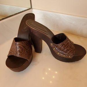Colin Stuart Leather Heels Sz 8